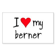 I LOVE MY Berner Decal