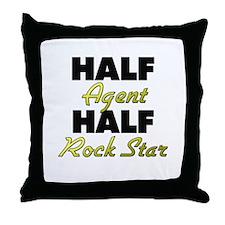 Half Agent Half Rock Star Throw Pillow