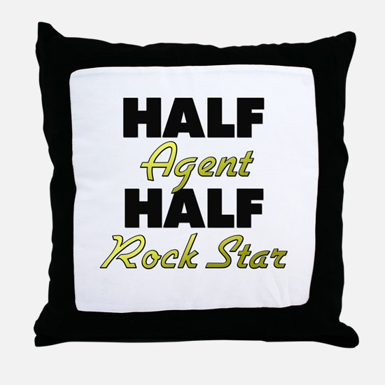 Half Agent Half Rock Star Throw Pillow