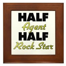 Half Agent Half Rock Star Framed Tile