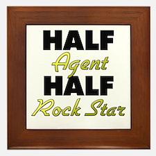 Half Agent Half Rock Star Framed Tile