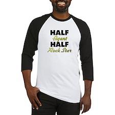 Half Agent Half Rock Star Baseball Jersey