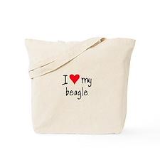 I LOVE MY Beagle Tote Bag