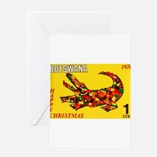 1970 Botswana Crocodile Christams Stamp Greeting C