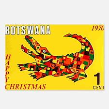 1970 Botswana Crocodile Christams Stamp Postcards