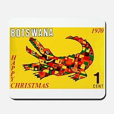 1970 Botswana Crocodile Christams Stamp Mousepad