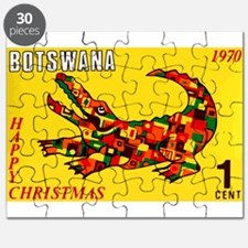 1970 Botswana Crocodile Christams Stamp Puzzle