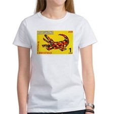 1970 Botswana Crocodile Christams Stamp T-Shirt
