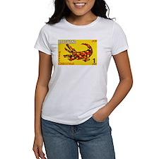 1970 Botswana Crocodile Christams Stamp T-Shirt