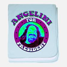 Angelini for President baby blanket