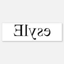 Elyse: Mirror Bumper Bumper Bumper Sticker