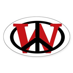 Peace Overrules W Oval Decal