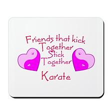 Karate Valentine Yin Yang Pink Hearts Mousepad