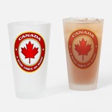 Canada Medallion Drinking Glass