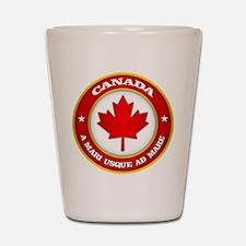 Canada Medallion Shot Glass