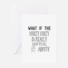 What If the Hokey Cokey Is Really W Greeting Cards