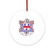 Miller Family Crest 2 Round Ornament
