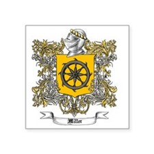 "Miller Family Crest 3 Square Sticker 3"" x 3"""