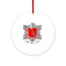 Miller Family Crest 4 Round Ornament