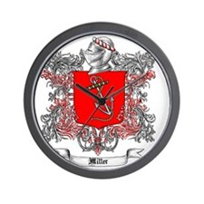 Miller Family Crest 4 Wall Clock