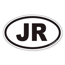 JR Euro Oval Decal