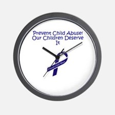 Child Abuse Wall Clock