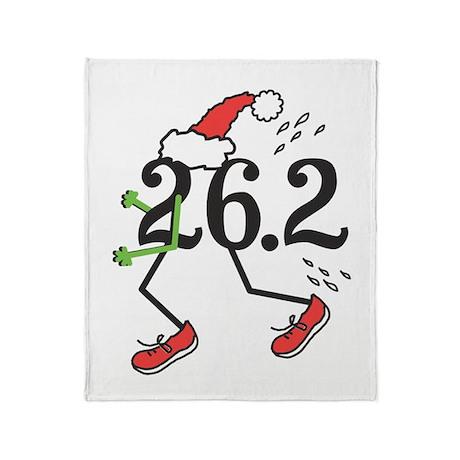 Holiday 26.2 Marathoner Throw Blanket