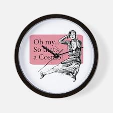 Retro Lady Cosmo - Wall Clock