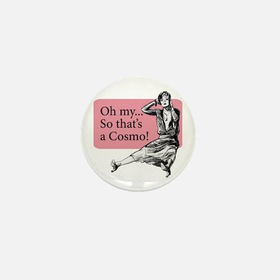 Retro Lady Cosmo - Mini Button