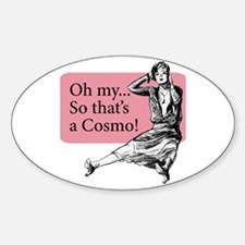 Retro Lady Cosmo - Sticker (Oval)