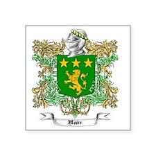 "Moore Family Crest 1 Square Sticker 3"" x 3"""
