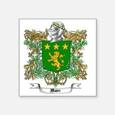 "Moore Family Crest 1 Square Sticker 3"" x 3"""