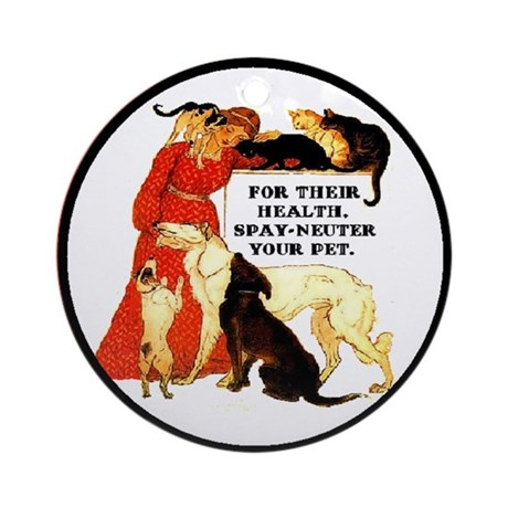 For Their Health * Dogs & Cats * - Ornament (Roun