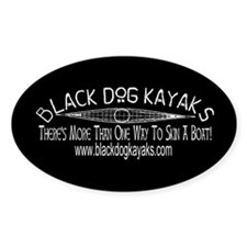Black Dog Kayaks Black Oval Decal