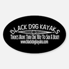 Black Dog Kayaks Black Oval Decal