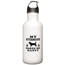 My Old English Sheepdog makes me happy Sports Water Bottle