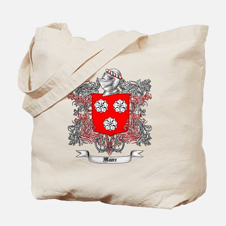 Moore Family Crest 3 Tote Bag