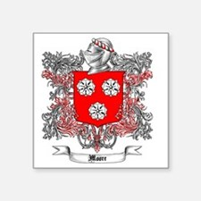 "Moore Family Crest 3 Square Sticker 3"" x 3"""