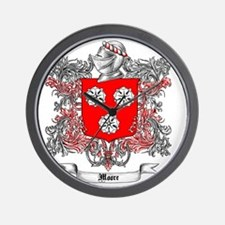 Moore Family Crest 3 Wall Clock