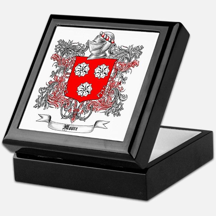 Moore Family Crest 3 Keepsake Box