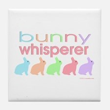 Bunny Whisperer Tile Coaster