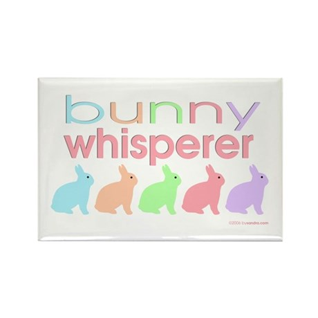 Bunny Whisperer Rectangle Magnet (100 pack)