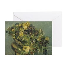 Van Gogh Basket of Pansies Greeting Card