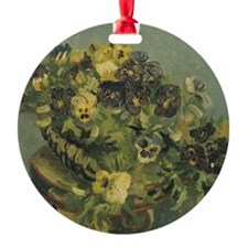 Van Gogh Basket of Pansies Ornament