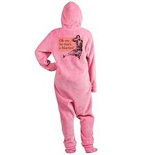 Retro Lady Cosmo - Footed Pajamas