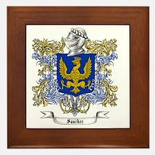 Sanchez Family Crest Framed Tile