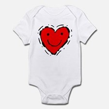 Happy Face Heart Infant Bodysuit