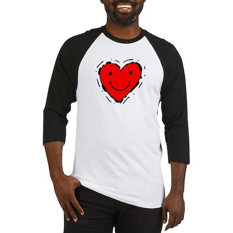 Happy Face Heart Baseball Jersey