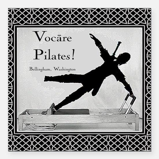 """Vocare Pilates Link Square Car Magnet 3"""" x 3"""""""