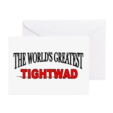 """The World's Greatest Tightwad"" Greeting Cards (Pa"